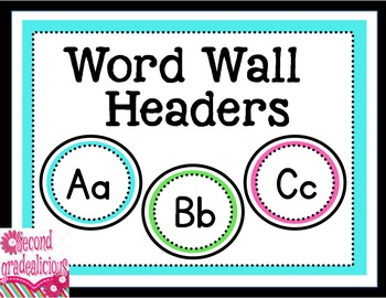 Word Wall Headers or Labels