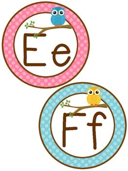 Word Wall Headers {Bright Owls}