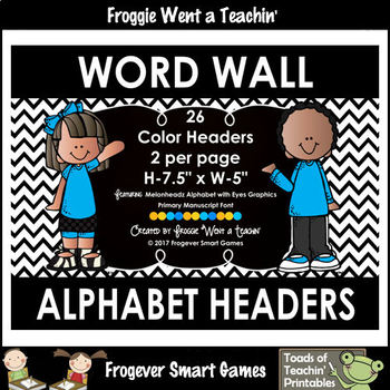 Word Wall Headers -- Alphabet with Eyes -- Primary Manuscript Font