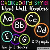 Word Wall Headers: Chalkboard Brights