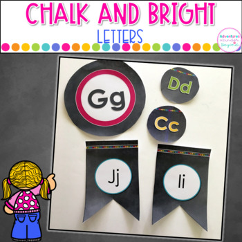 Chalk and Bright Word Wall Letters