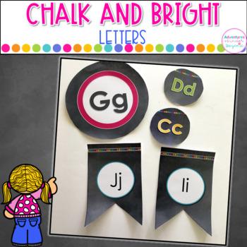 Word Wall Letters- Chalkboard Style