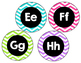 Word Wall Headers Chevron Pink, Teal, Lime, Purple