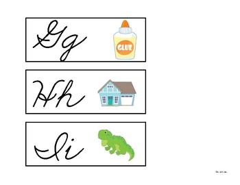 Word Wall Headers (Cursive)