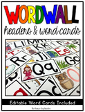 Word Wall Headers & Editable Word Cards