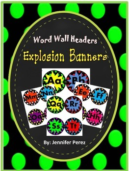Word Wall Headers-Explosion Banners