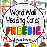 Word Wall Heading Cards - FREEBIE!