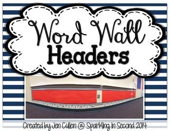 Word Wall Headers FREEBIE