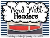 Word Wall Headers FREEBIE