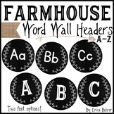 Word Wall Headers: Farmhouse Style