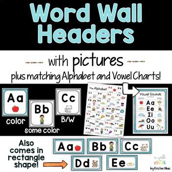 Word Wall Headers (Blue)