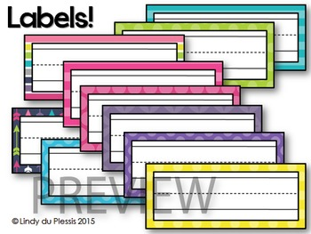 Word Wall Headers (Happy & Bright)
