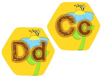 Word Wall Headers {Honeycomb}