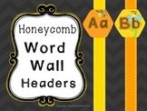 Word Wall Headers {Honeycomb}