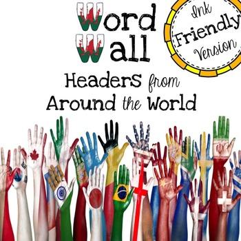 Word Wall Headers - Ink Friendly Version