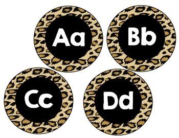 Word Wall Headers Leopard Animal Print