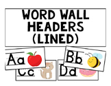 Word Wall Headers (Lined)