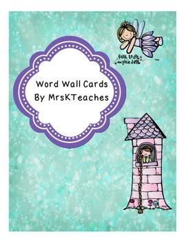 Word Wall Headers Medallion Style, Fairy Tale theme