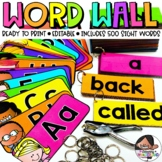 Word Wall | Classroom Decor | Kids Theme | Fry / Dolch / +100 Spanish HFW