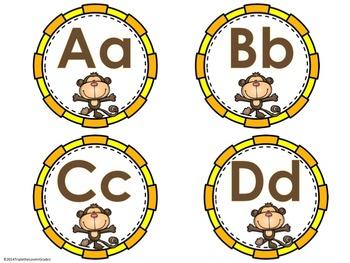 Word Wall Headers - Monkey Theme