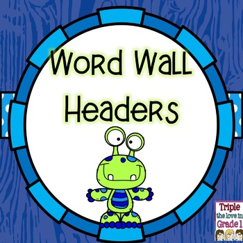 Word Wall Headers - Monster Theme