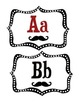 Word Wall Alphabet Headers: Mustache Theme