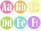 Word Wall Headers- Pastel Colors