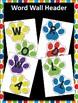 Word Wall Headers ~ Paw Prints