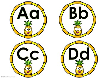 Word Wall Headers - Pineapple Theme