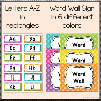 Word Wall Headers {Polka Dots}