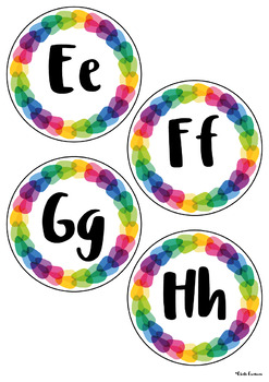 Word Wall Headers - Rainbow