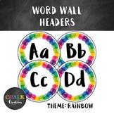 Word Wall Headers - Rainbow