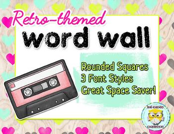 Word Wall Headers - Retro Theme