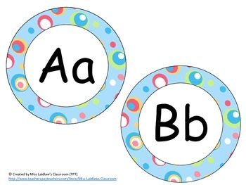 Word Wall Headers {Silly Dots}  - Upper and Lowercase Letters, Digraphs