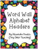 Multicolored Star Themed Word Wall Headers