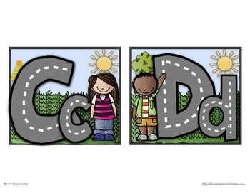 Word Wall Headers (Upper & Lowercase Letters)- Community Themed