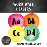 Word Wall Headers - Watercolour