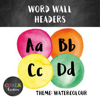 Word Wall Headers - Watercolour