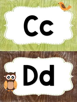 Word Wall Headers - Woodland Animals Theme