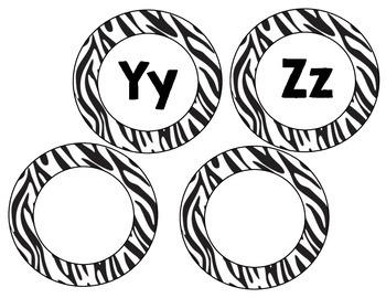 Word Wall Headers Zebra Animal Print