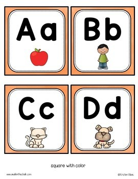 Word Wall Headers and Alphabet Cards with Pictures | Classroom Decor