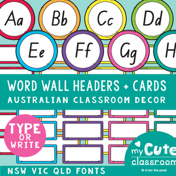 Word Wall Headers and Cards