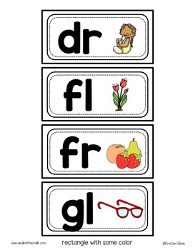 Word Wall Headers for Blends and Digraphs with Pictures | Classroom Decor