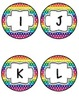 Word Wall Headers in Horizontal Rainbow Dots