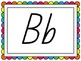 Queensland Print Word Wall Headers - Rainbow Border