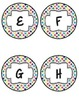 Word Wall Headers in Rainbow Diamonds