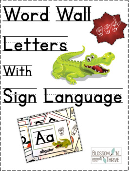 Word Wall Letters with Sign Language