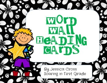 Word Wall Heading Cards