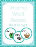 Word Wall Headings