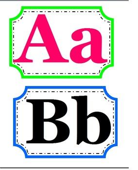 Word Wall Headings: Blue, Green, & Pink